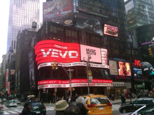 (Notre tres cher) Times Square Ad.