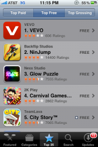 vevo-top-app-itunes